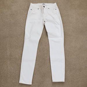 Paige denim white distressed jeans